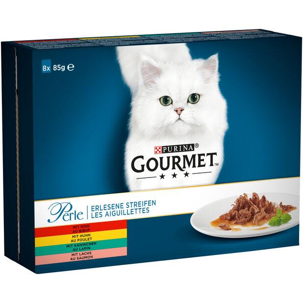 Gourmet Perle Kjøtt og Fisk i saus 8x85g