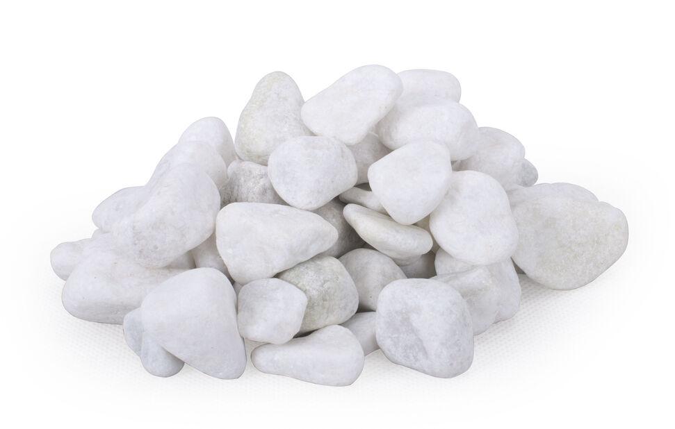 Dekorstein marmor, 10 kg, Hvit