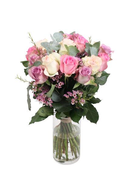 Bukett 'Sweet roses', Høyde 50 cm, Flerfarget