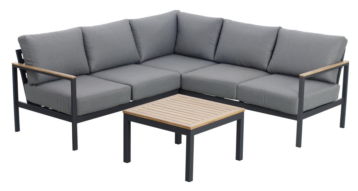 Sofagruppe New York, 4 sitteplatser, Svart