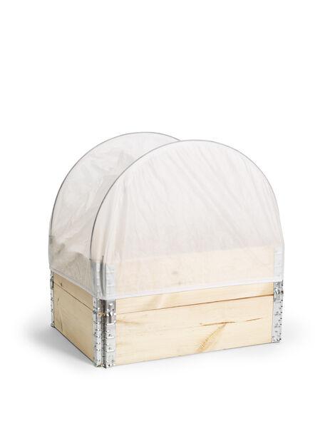 Duk for plantkasse, Lengde 80 cm, Hvit