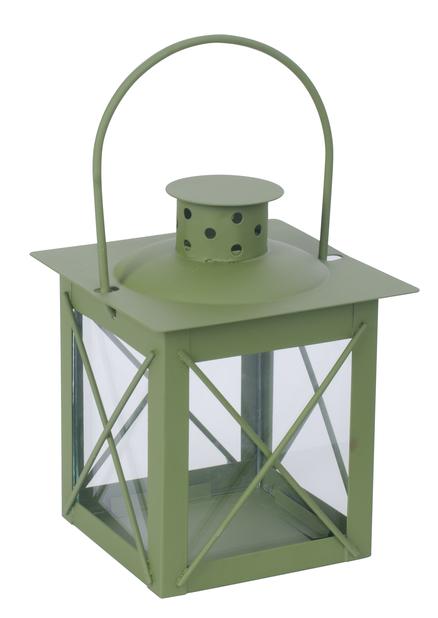 Lykt Pia H 13 cm, grønn