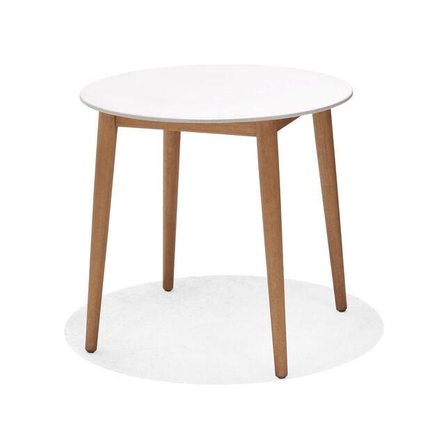 Kafébord Viborg, Ø80 cm, Hvit