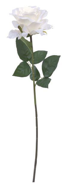 Rose snitt kunstig, Høyde 63 cm, Grønn