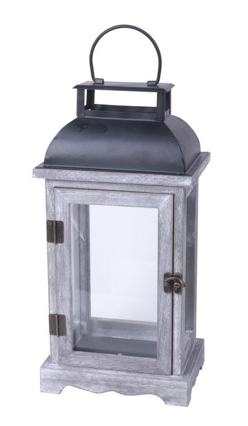 Lanterne Viktor grå h 33,5cm