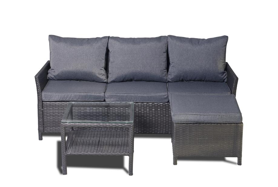 Sofagruppe Malaga, 4 sitteplatser, Svart