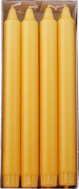 Kronelys 8 pk, Lengde 24 cm, Gul