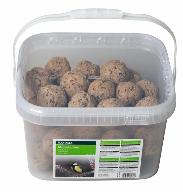 Suet balls in a bucket, 45 PCS