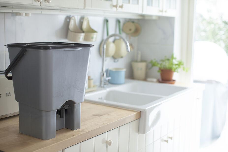 Urban Garden Kompostbeholder, 15 L, Grå